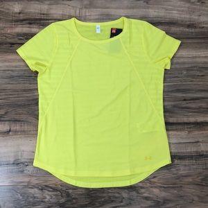Under Armour Tops - Under Armour Vanish Disrupt Mesh Lemon Shirt